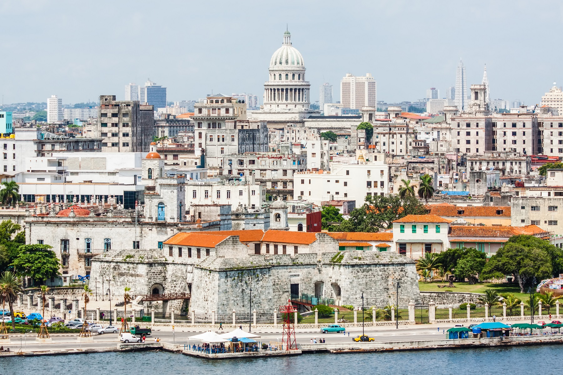 The city of Havana including the old town and several iconic buildings